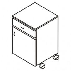 Тумба прикроватная на колесах с выдвижным ящиком (М-113)