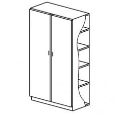 Шкаф для белья 2 секции 2 фасада (М-105)