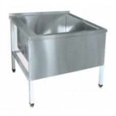 Ванна 1-о секц. ВМП-7-1 котломойка (мойка 604x600x500мм.) вся нерж.