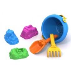 Набор для песка №112 (совочек, грабельки, формочки Машинки, ведро )