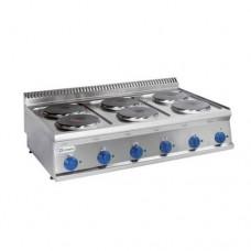 Плита 6 конфорочная  Tecnoinox PCS105E7