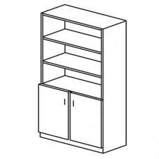 Шкаф общего назначения 2 секция верх стеллаж (М-107)