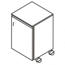 Тумба прикроватная на колесах с 1 дверцей (М-114)