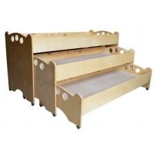 Детская Трехъярусная кровать (фанера)